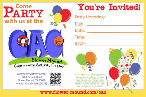 Parties – Party Invitation Email