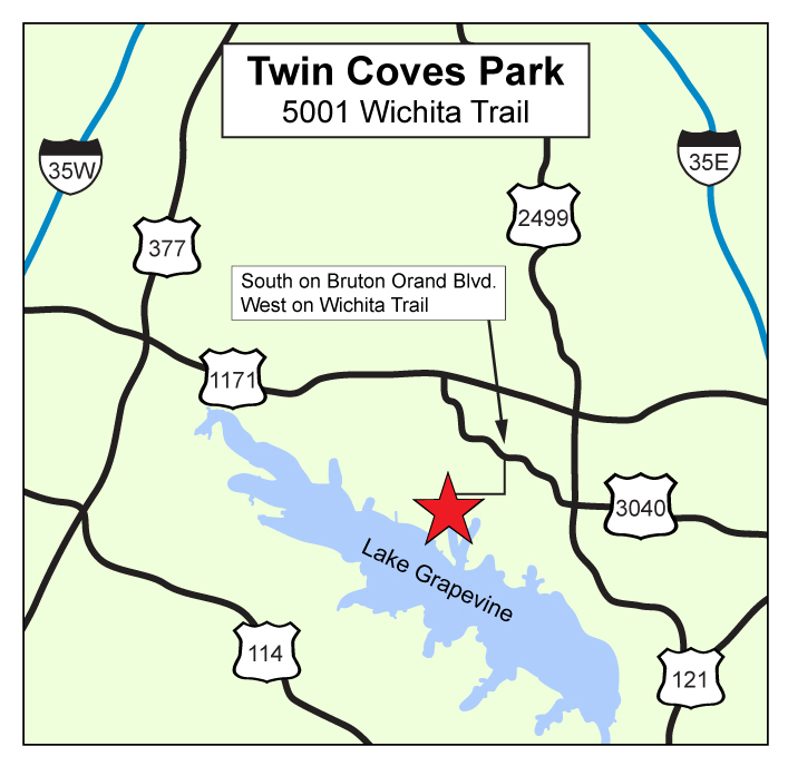 Twin Coves location