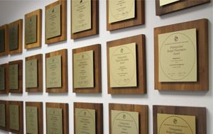 Distinguished Budget Award Plaques