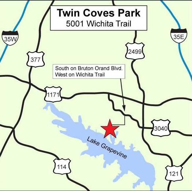 Twin Coves Map