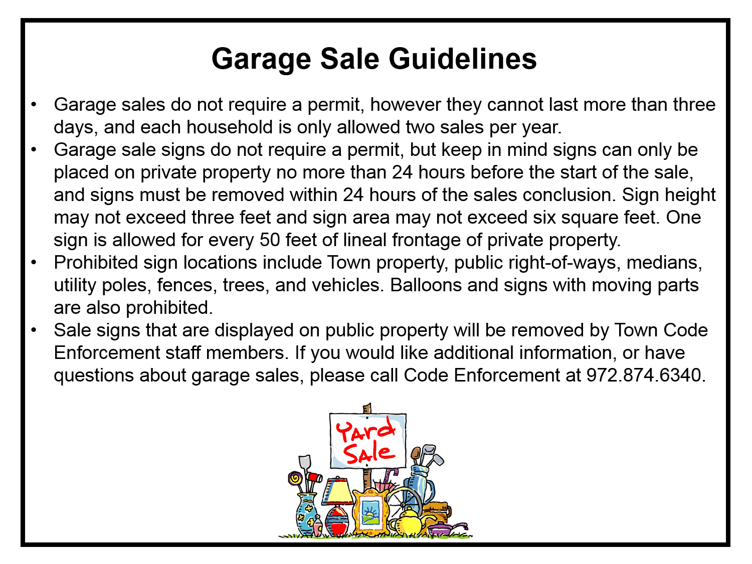 GARAGE SALE GUIDELINES