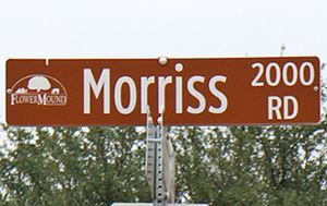 Morriss Road Street Sign
