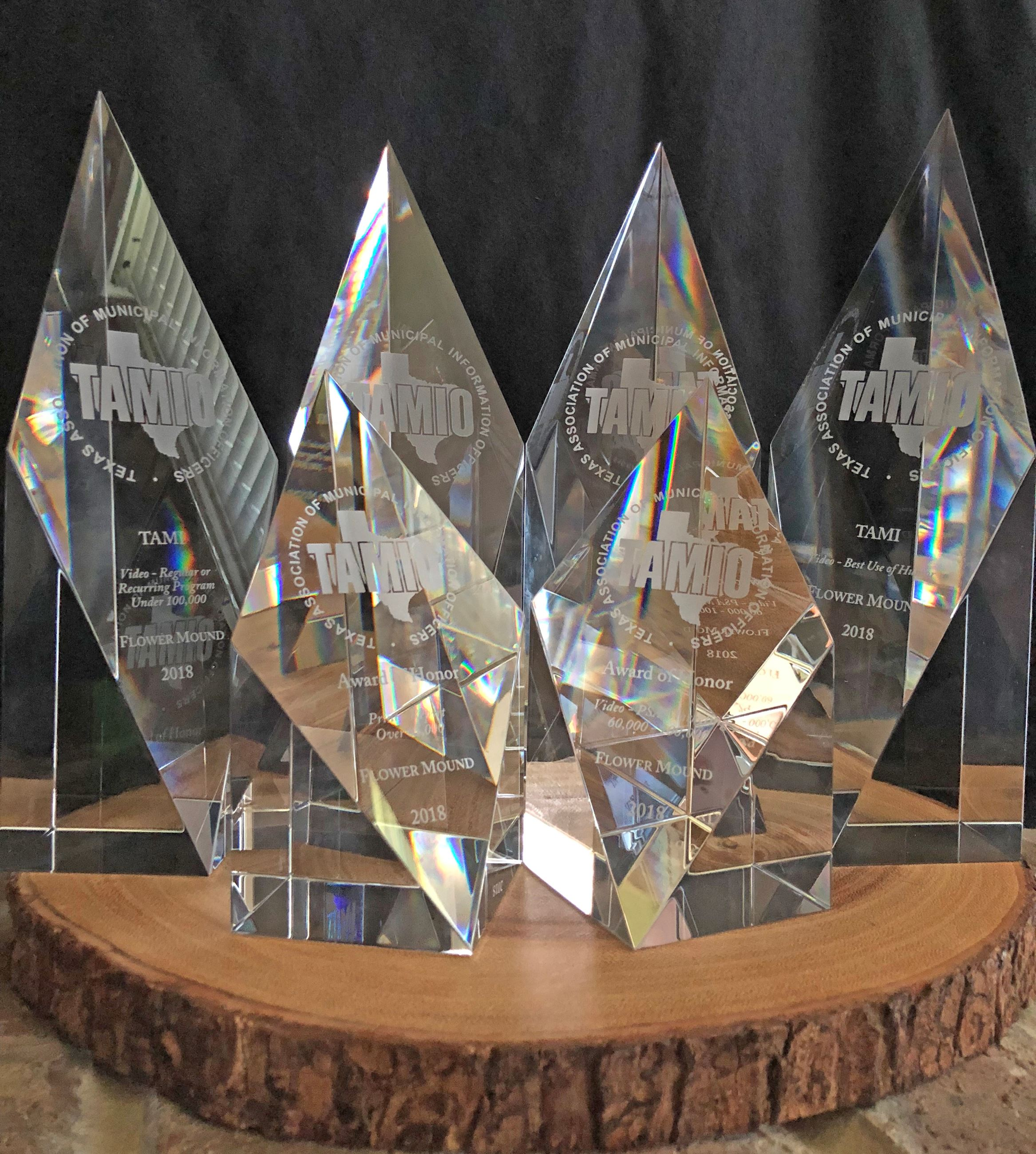 Photo of 2018 Crystal Communication Trophies