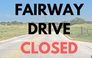 Fairway Drive Closure Graphic