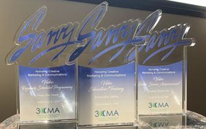 3CMA Savvy Awards Trophies