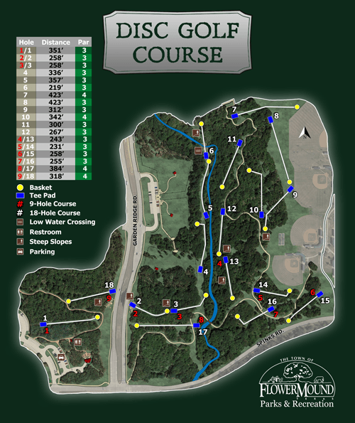 Disc Golf Course Map