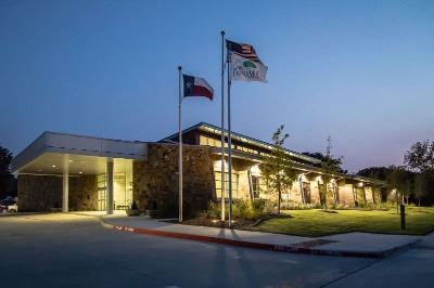 Photo of Senior Center at night