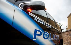 close up of a Flower Mound Police Department car