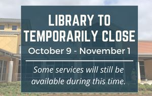 Library Closure Graphic