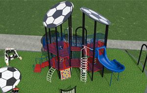 graphic of the future soccer-themed Chinn Chapel playground