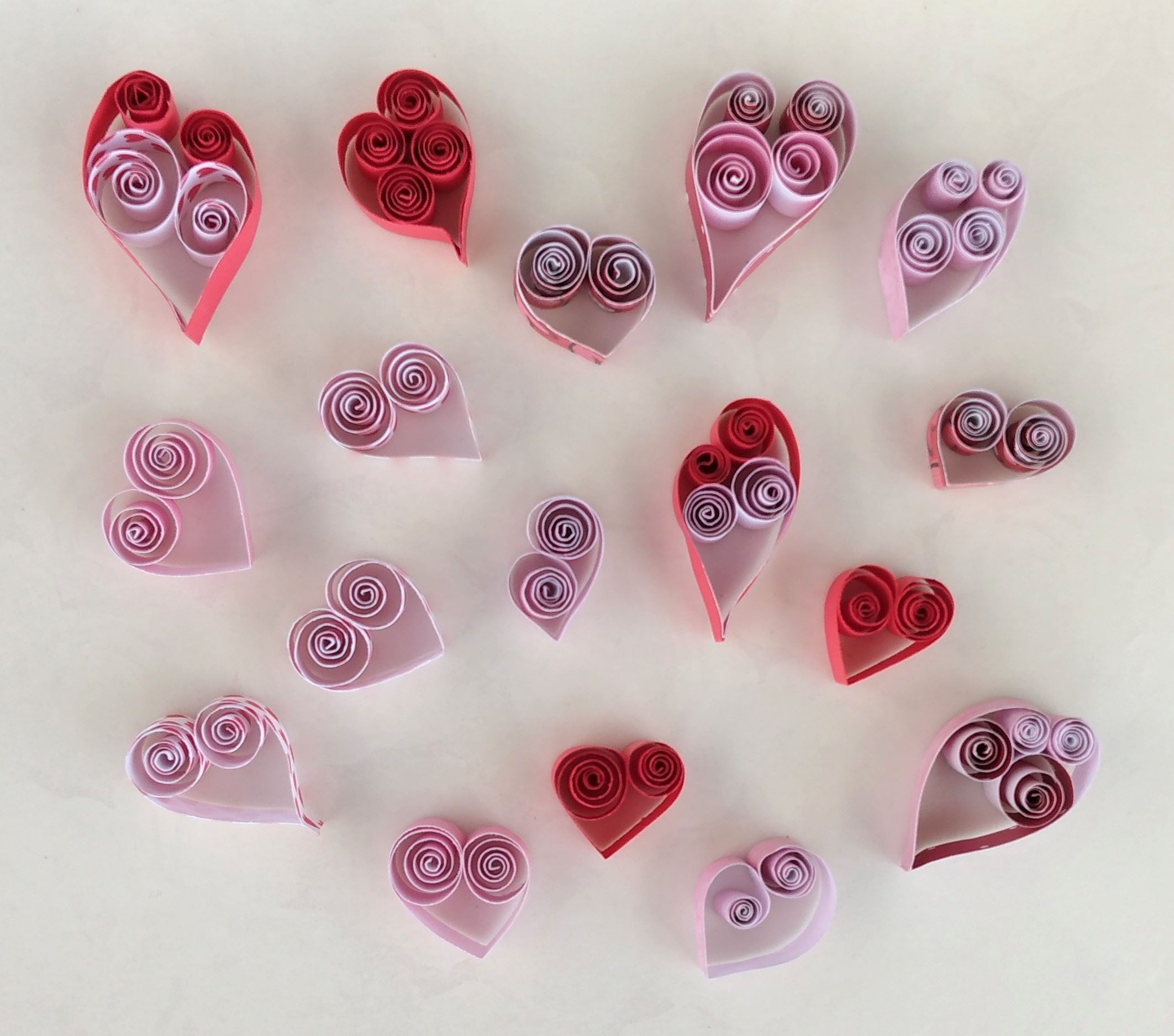 Quilled Hearts Craft Pic1