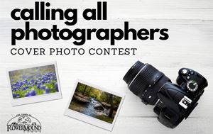 "graphic that says ""Calling all Photographers Cover Photo Contest"" with scenic photos"