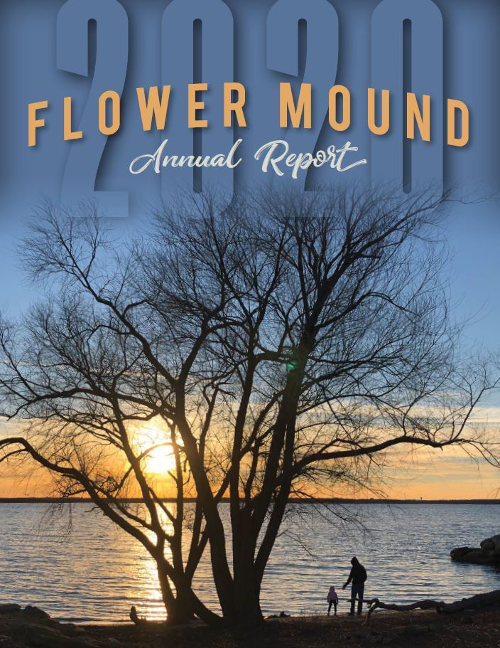 photo of the Flower Mound 2020 Annual Report Cover
