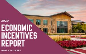 photo of Town Hall with text saying Economic Incentives Report Now Available
