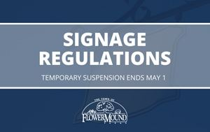 graphic that says signage regulations temporarily suspension ends May 1